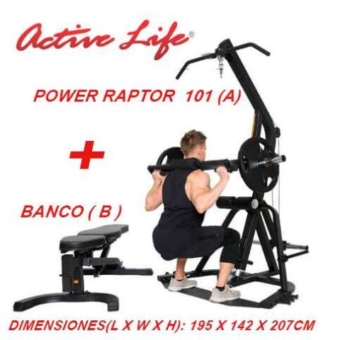 POWER RAPTOR 101 A + BANCO RECLINABLE
