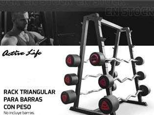 Rack rectangular para barras con peso