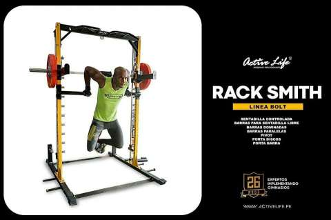 MÁQUINA SMITH  - SENTADILLAS - RACK - BOLT 3
