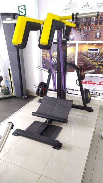 Squat de Calf Machine SENTADILLA y disco